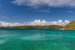 Calm Bay in Antigua. Serene scene in Antigua, very calm, very pretty Stock Photos