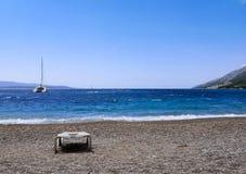 calm beach: sky over the blue sea royalty free stock photos