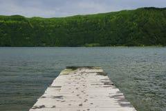 Calm beautiful landscape Blue Lake or Lagoa Azul in Sete Cidades  Sao Miguel Azores island Portugal Royalty Free Stock Photos