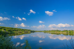 Calm beautiful rural landscape with a lake Royalty Free Stock Image