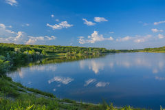 Calm beautiful rural landscape with a lake Stock Image