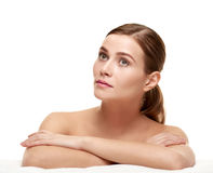 Calm beautiful woman Royalty Free Stock Images