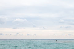 Calm Black Sea in cloudy day Stock Photo