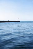 Calm Blue Water Stock Photography