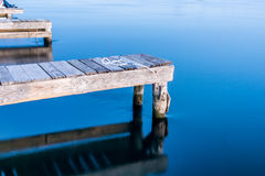 Calm river blue water Royalty Free Stock Photography