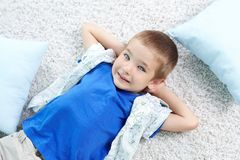 Calm boy royalty free stock images