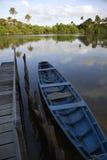 Calm Brazilian River Boat Dock Rural Brazil Stock Photos