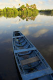 Calm Brazilian River Boat Rural Brazil Royalty Free Stock Photography