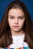 Calm brunette little girl Royalty Free Stock Photo