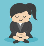 Calm business woman meditating Stock Photography