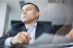 Calm businessman Stock Photography