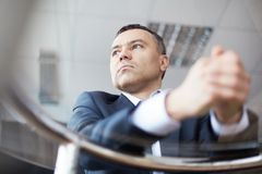 Calm businessman Stock Photos