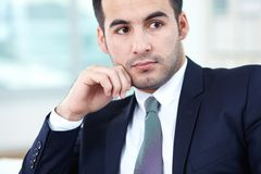 Calm businessman Royalty Free Stock Photos