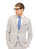 Calm businessman in spectacles Stock Photos