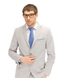 Calm businessman in spectacles Stock Images