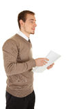 Calm businessmen with documents Stock Photos