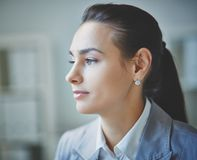 Calm businesswoman Stock Photos