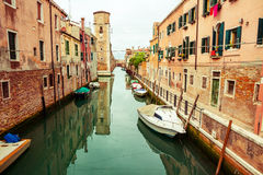 Calm canal in Venice Royalty Free Stock Image