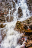 Calm cascade scene Royalty Free Stock Image