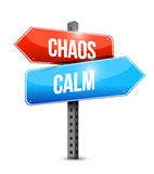 Calm and chaos sign illustration design Royalty Free Stock Photography