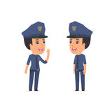 Calm Character Constabulary tells news to his friend Stock Photography