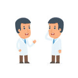 Calm Character Doctor tells news to his friend Stock Image
