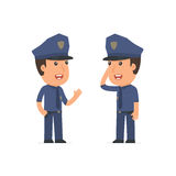 Calm Character Officer tells news to his friend Royalty Free Stock Photo