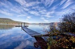Calm Chatcolet lake in Idaho. Stock Photo
