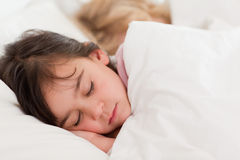 Calm children sleeping. In a bedroom Royalty Free Stock Image