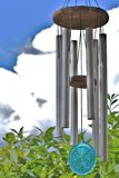 Calm chimes. Beautiful calm wind chimes on a sunny summer day Stock Photography