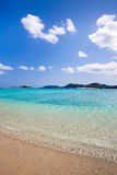 Calm clear blue waters of southern Japan Stock Image