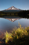 Calm Clear Water Trillium Lake Mount Hood Oregon State Stock Photo