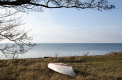 Calm coastal spring view Royalty Free Stock Photography