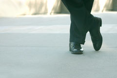 Calm and collected. Business shoes stock photo