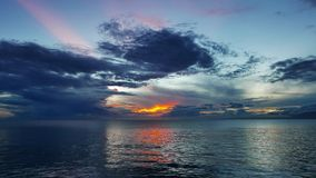 Colorful Sunrise over the Ocean 02 stock video footage