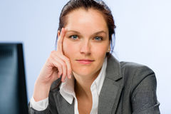 Calm confident businesswoman Royalty Free Stock Image