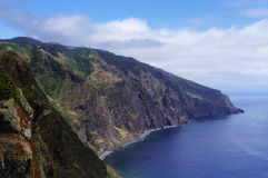 Calm cost of Madeira stock photography