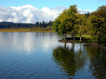 Calm Day At The Lake. A beautiful pacific northwest lake royalty free stock photography
