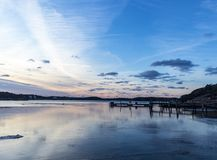 A calm day at Lysekil in sweden royalty free stock photo