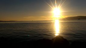 Gallipoli sunset. A calm day and sea in Çanakkale Sarıçay stock video