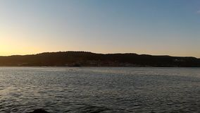 Gallipoli sunset. A calm day and sea in Çanakkale Sarıçay stock footage