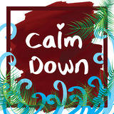 Calm down frame Stock Photo