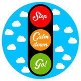 Calm down. When having stress: stop and calm down before going again Royalty Free Stock Photos