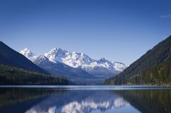 Free Calm Duffy Lake And Snow Covered Mountains Stock Photos - 169446233