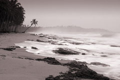Calm at the end. Kosgoda beach - Sri Lanka. One of the most lovely beaches in the Island Stock Photos