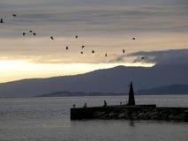 Calm Evening. With sunset in Vila Garcia, Galiza, Spain Stock Photos