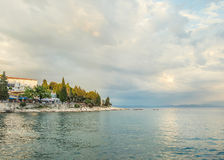 Calm evening in the Bay of Adriatic Sea Royalty Free Stock Photos