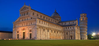 Calm evening on Il Campo dei Miracoli - The Field of Miracles in Pisa, Italy Royalty Free Stock Photo