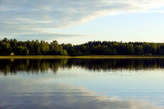 Calm evening by the lake. Royalty Free Stock Photos