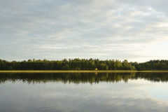 Calm evening by the lake. Royalty Free Stock Images